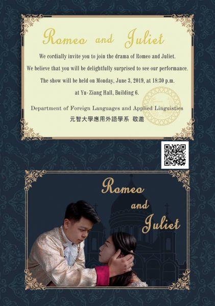 【活動公告】2019第十七屆應外系戲劇公演--Romeo and Juliet